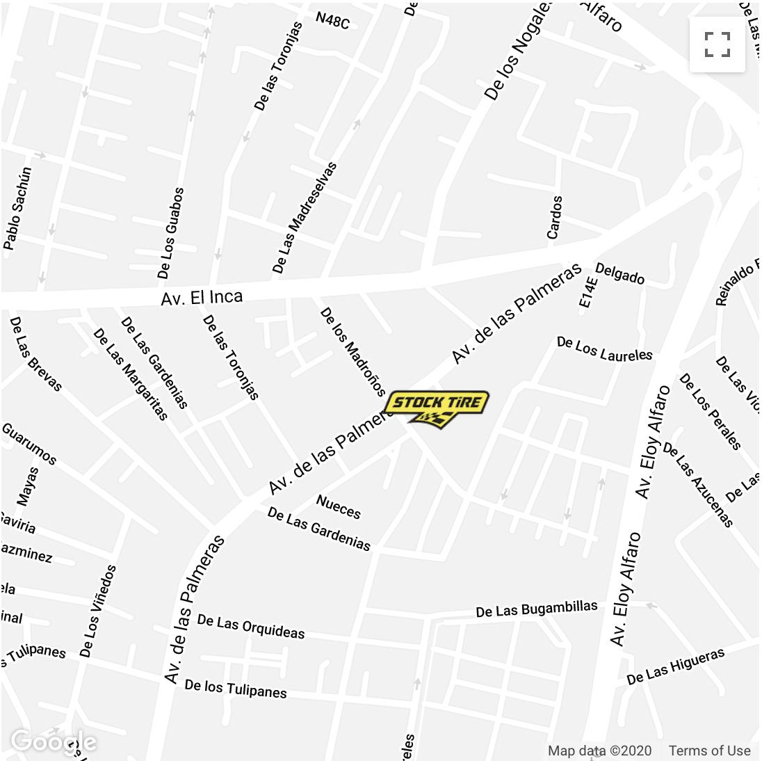 Stock Tire Quito Mapa de ubicación